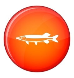 Saury icon flat style vector