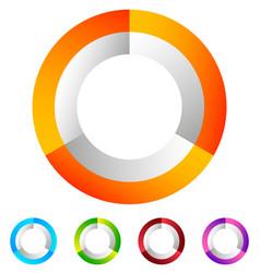 Segmented circle generic abstract icon circular vector