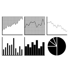 Set of different graphs vector