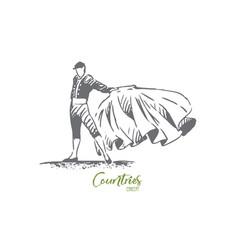 spain bullfight matador travel country concept vector image