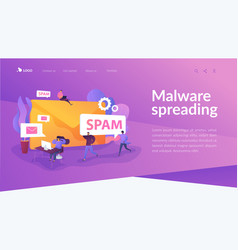 spam landing page template vector image