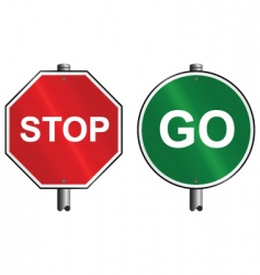 Stop go signs vector