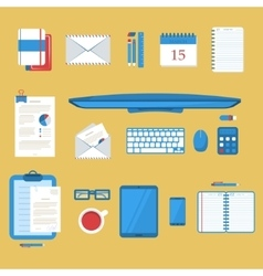 Students work table vector image