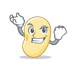 Successful soy bean character cartoon vector