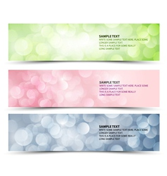 sunny horizontal banners vector image