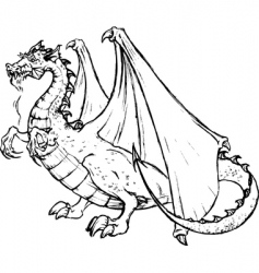 tatto of a black dragon vector image