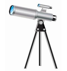 Telescope on white background vector