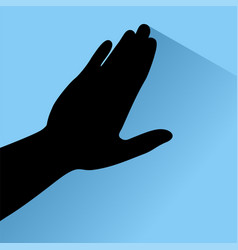 touch hand vector image