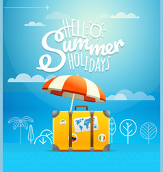 Travel bag vacation concept vector