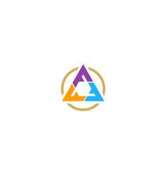 triangle colorful shape company logo vector image