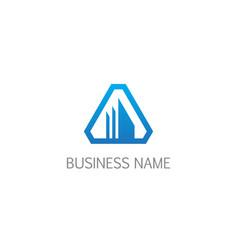 triangle shape building company logo vector image