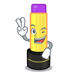 two finger lip balm above mascot dressing table vector image