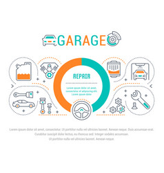 Website banner and landing page garage vector