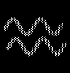 white dot sinusoid waves icon vector image