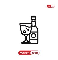 wine icon alcoholdrink symbol vector image