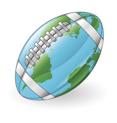 World globe football ball concept vector