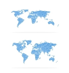 World map halftone set vector image