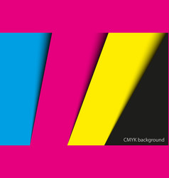 abstract background sheets of paper in cmyk vector image vector image
