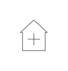 add home icon vector image vector image