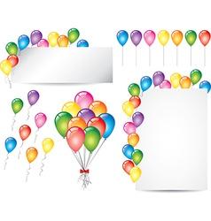 balloons set vector image
