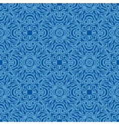 Blue floral seamless wallpaper pattern vector image vector image