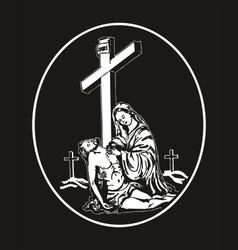 Jesus descent from the cross vector