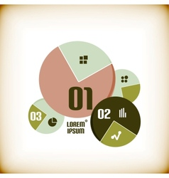 Round chart infographic template vector image vector image