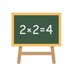 school board with simple equation vector image vector image