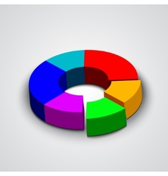 abstract round 3d business pie chart vector image