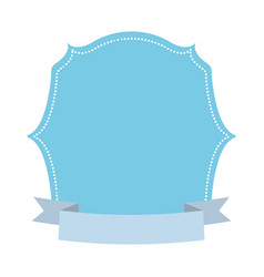 blue label decoration ribbon vector image