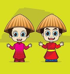 Cartoon Asean Vietnam vector image vector image