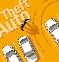 Theft Auto vector image vector image