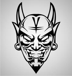 Tribal Devil Head vector image