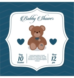 Baby Shower design teddy bear icon vector image