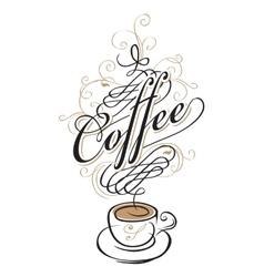 coffee cup of Baroque vector image vector image