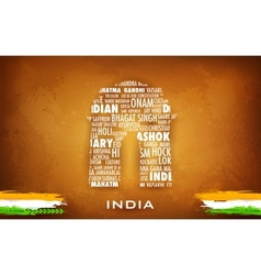 Typography India Gate vector image vector image