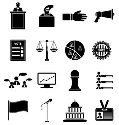 election icons set vector image