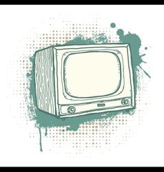Grunge TVset vector image vector image