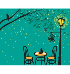 lantern night vector image vector image
