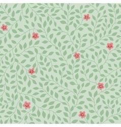 leaves pattern flowers vector image vector image