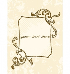 rectangular grungy vintage sepia frame vector image vector image
