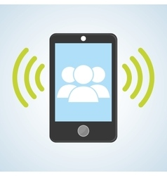 Smartphone design contact and technology concept vector image