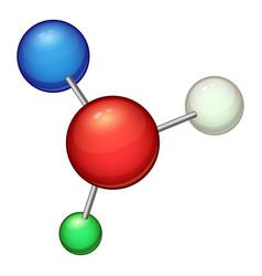 structure molecule icon cartoon style vector image vector image