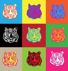 tiger pop vector image vector image