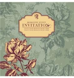 vintage rose design vector image