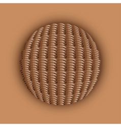Weaved ball vector image vector image