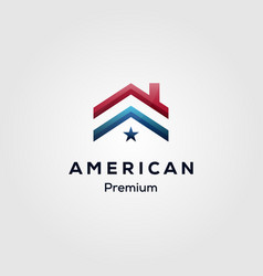 american flag house premium mortgage logo vector image
