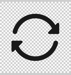 arrow rotation icon in transparent style sync vector image