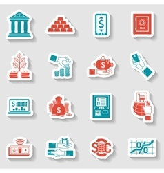 Banking Sticker Set vector
