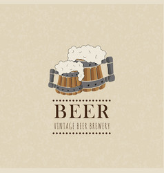 beer label on old paper texturevintage style vector image